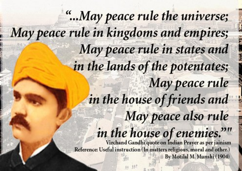 Virchand Gandhi Quote Prayer For World Peace Quotes