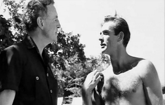 Ian Fleming With Sean Connery Dr No Set Bodybuilder